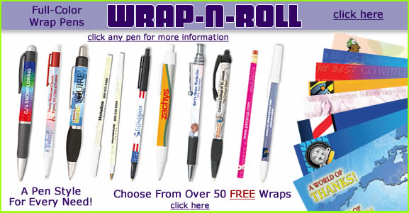 FREE Full-Color Wraps on All Wrap-N-Roll pens
